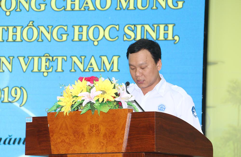 Anh Nguyễn Văn Thơ - Phó Bí thư Đoàn trường, Chủ tịch Hội sinh viên trường