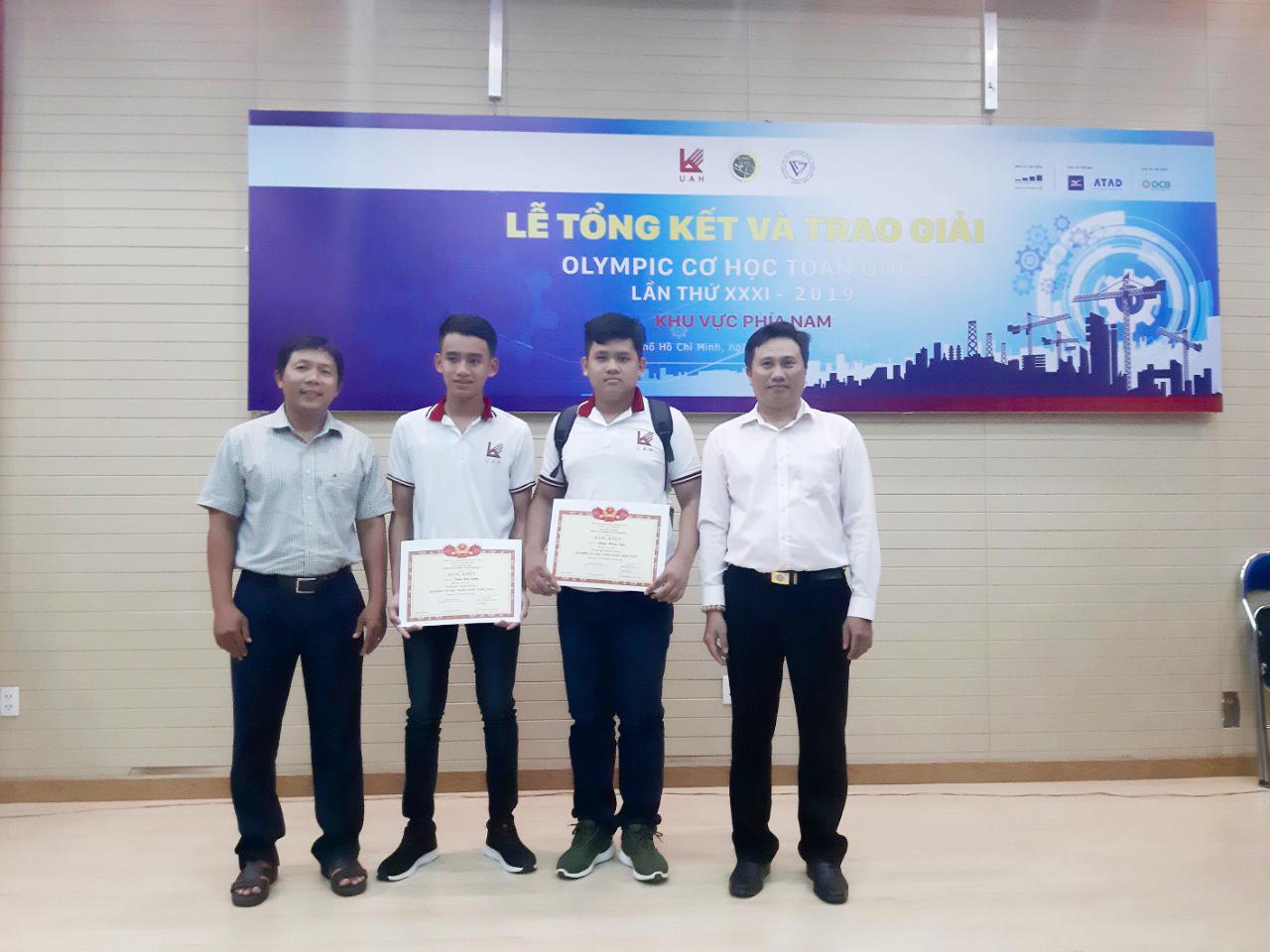 Hai Sinh viên TVU đạt giải Olympic Cơ học toàn quốc năm 2019
